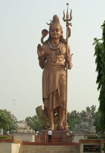 Statue of Lord Shiva holding the trishula