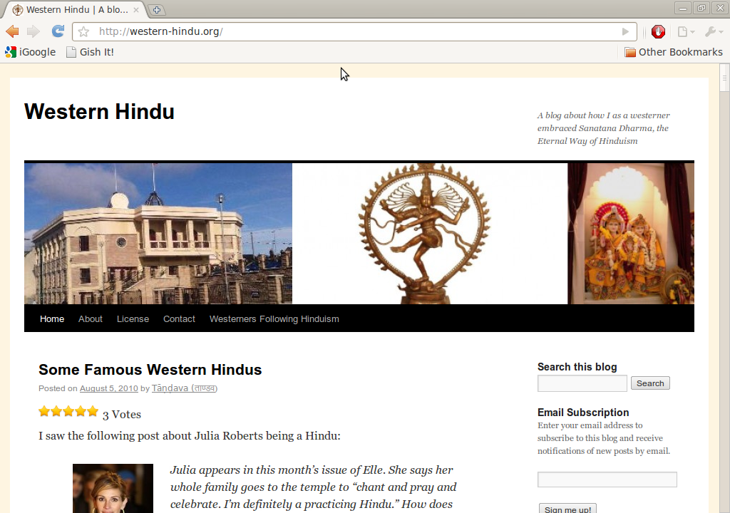 Western Hindu | A blog about how I as a westerner embraced ...