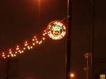 Diwali lights near Bradford Mandir