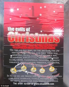 "Islamic ""Christmas is Evil"" poster"