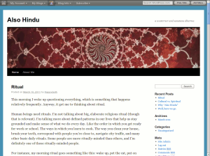 Also Hindu blog by another Western Hindu