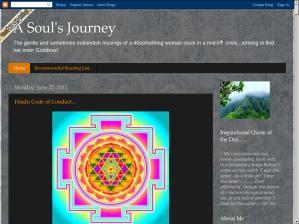A Soul's Journey blog