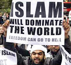 These Muslims believe that they should dominate the world and subjugate those of other faiths