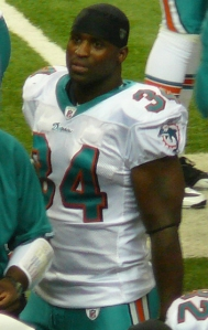 Picture of Ricky Williams,  running back for the Baltimore Ravens and Western Hindu