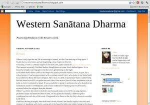 Western Sanātana Dharma