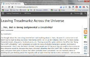 Leaving Treadmarkz Across the Universe