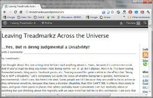 Leaving Treadmarkz Across the Universe