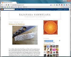 screenshot of the Rajanaka Sammelana blog