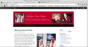 The Indian Love Story blog